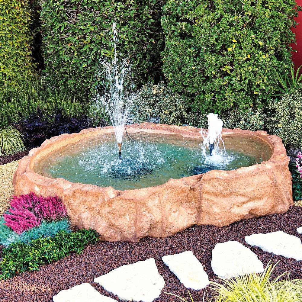 Laghetto haiti con bordo giardini d 39 acqua for Laghetti vetroresina da giardino