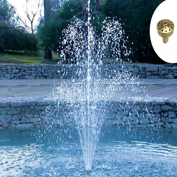 Gioco d'acqua zampillo in ottone   Giardinidacqua.it