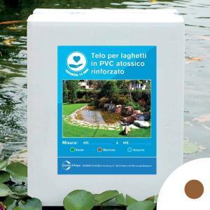 Telo per laghetti in PVC rinforzato marrone, 3 x 4 m | Giardinidacqua.it